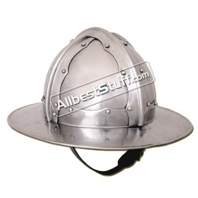 Medieval Italian Kettle Hat of 1460 AD made from 16 Gauge Steel