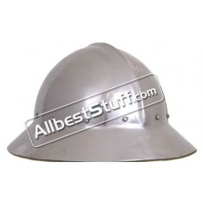 Medieval Kettle Hat 14th Century made of 16 Gauge Steel