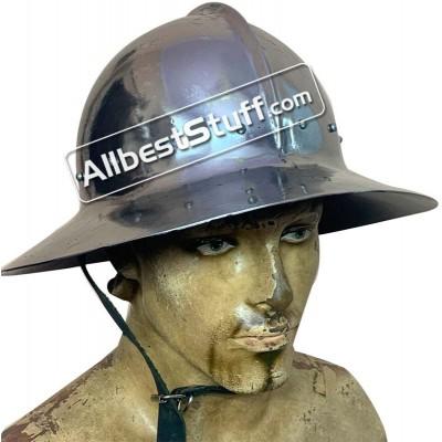 SALE! Medieval Kettle Hat 14th Century made of 16 Gauge Steel