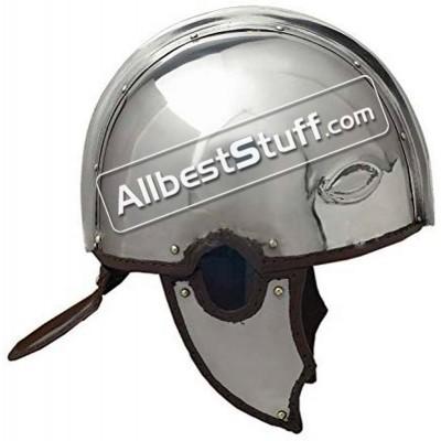 Medieval Late Roman Made of 18 Gauge Steel Helmet Intercisa I