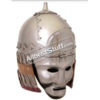 Medieval Mongolian 14th century Great Helmet 16 Gauge Steel