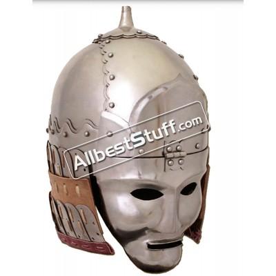 Medieval Mongolian 14th century Great Helmet 16 Gauge Steel