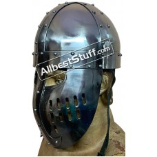 Medieval Norman Faceplate Spangenhelm Heavy 14G Helmet