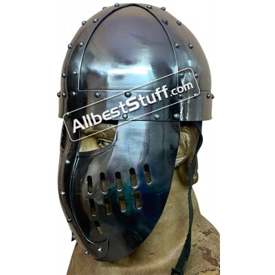 SALE! Medieval Norman Faceplate Spangenhelm Heavy 14G Helmet