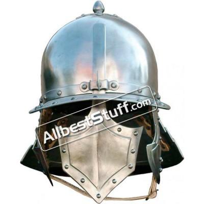 Medieval Pappenheimer burgonet 14 Gauge Steel Helmet