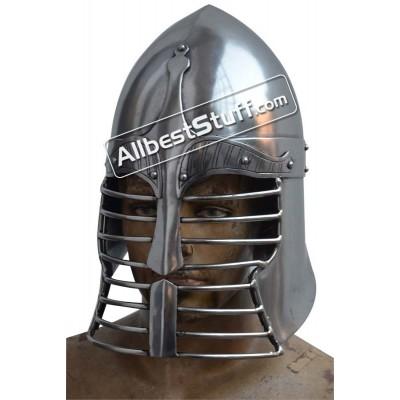 Medieval Sugar Loaf Persian War Helmet Heavy 14 gauge Helmet