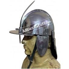 Medieval Polish Hussar Helmet of 17th Century Strong Steel
