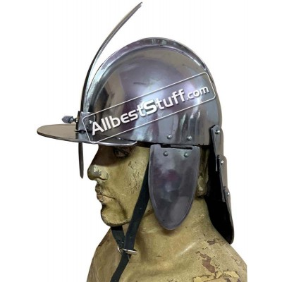 Medieval Polish Hussar Helmet of 17th Century Strong Steel