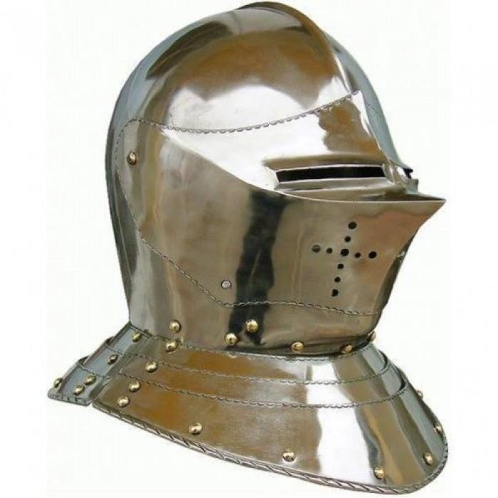Medieval Sentinel Knight's Helmet 18 Gauge
