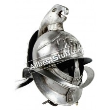 Medieval Spartacus Gladiator Helmet Made of 18 Gauge Steel