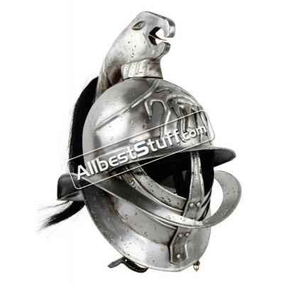 Medieval Spartacus Gladiator Helmet Made of 18 Gauge Steel