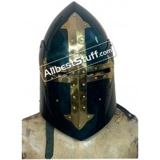 Medieval Sugar Loaf Helmet with Visor made from 16 Gauge Steel