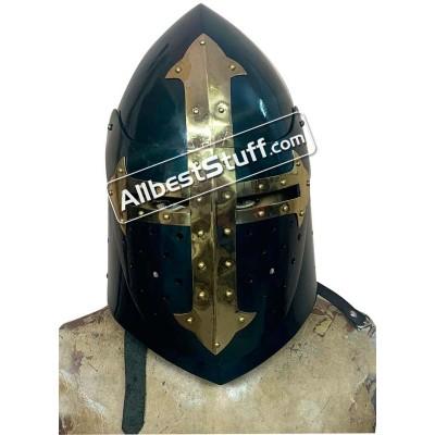 Medieval Sugar Loaf Helmet with Visor