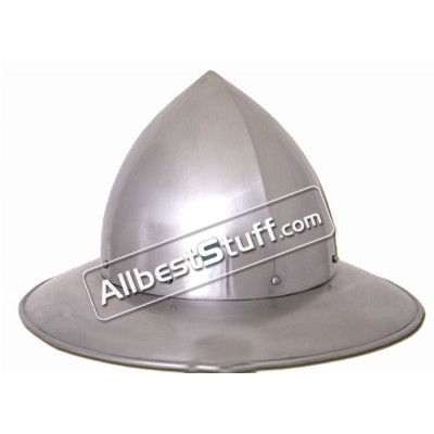 Medieval Swiss Kettle Hat Helmet of 14th Century made from 16 Gauge Steel