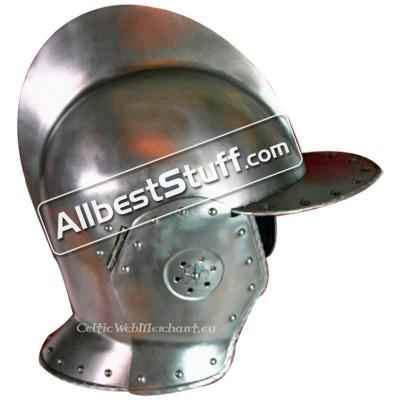 Medieval Swiss burgonet Helmet 14 Gauge Steel