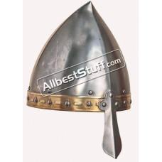 Medieval Viking Italo Norman Helmet 14 Gauge Strong Battle Ready