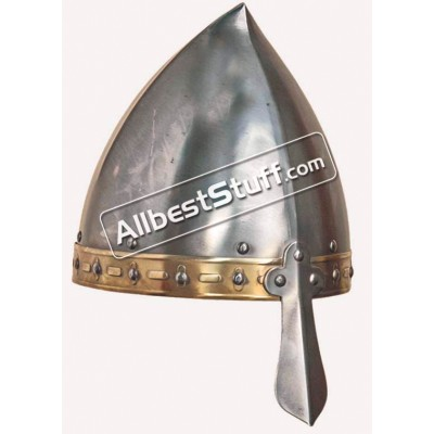 Medieval Viking Italo Norman Helmet 14 Gauge Strong Battle Ready
