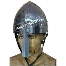 Medieval Viking Spangenhelm 18 Gauge Steel Battle Ready Helmet