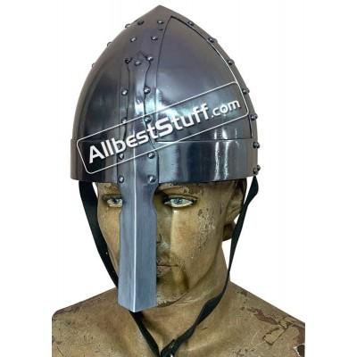 Medieval Viking Spangenhelm 18 Gauge Steel Helmet