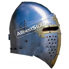 Medieval Visor Helmet made from Steel Combat Version