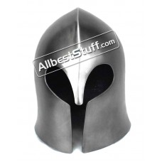 Medieval Visorless Basic Barbute Helmet 14 Gauge Steel