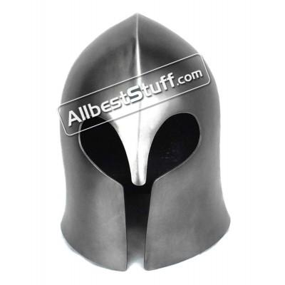 Medieval Visorless Basic Barbute Helmet 14 Gauge Steel
