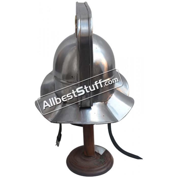 Roman Gladiator Helmet Heavy Duty 14 Gauge Helmet
