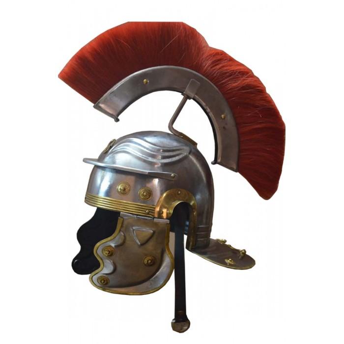 Medieval Roman Centurion Helmet with Plume