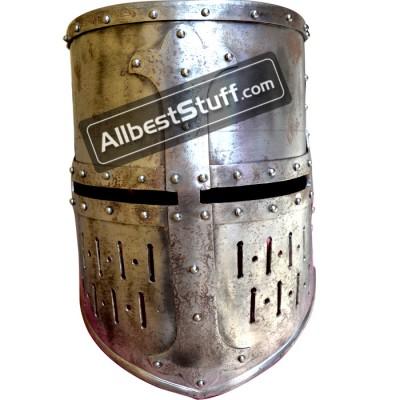 Strong 16 Gauge Medieval Maciejowski Helmet