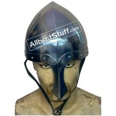 Medieval Italo Norman Nasal Helmet 14 Gauge Steel