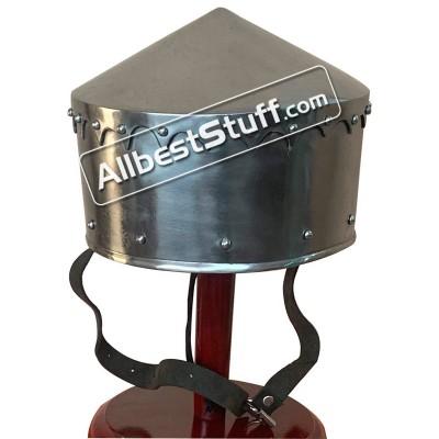 Medieval Crusader Helmet Battle Ready 14 Gauge Steel