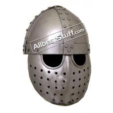 Medieval Crusader Spangenhelm with Face Plate made in 14 Gauge Steel