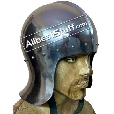 Medieval English Archers Helmet 15th Century 16 Gauge Steel
