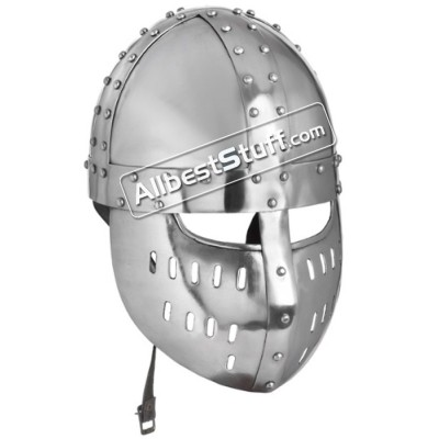 Medieval Norman Spangenhelm with Faceplate 16 Gauge