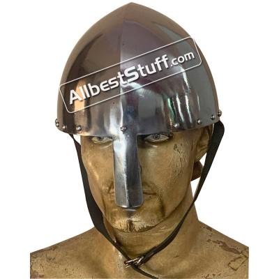 Medieval Strong 14 Gauge Viking Olmutz Nasal Helmet