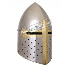 Medieval Sugar Loaf Great Helmet 16 Gauge Steel