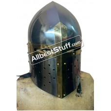 Medieval Sugar Loaf Great Helmet 16 Gauge Steel