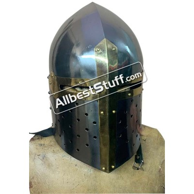 SALE! Medieval Sugar Loaf Great Helmet 16 Gauge Steel