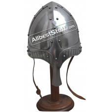Medieval Viking Spangenhelm made of 14 Gauge Steel Battle Ready