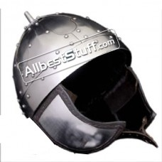 Medieval Viking Spangenhelm Strong 16 Gauge Steel Cheek Guards