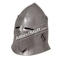 Medieval Visored Sugar Loaf Helmet 16 Gauge Steel