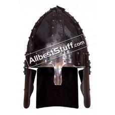 Roman Spangen Helmet Deir el-Medina 16 Gauge Steel, Fire Black