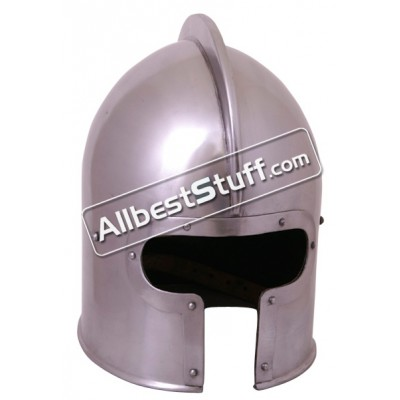 Medieval Italian Barbute Helmet Made of 16 Gauge Steel