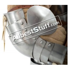 Medieval Plate Armor Elbow Protection 18 Gauge Steel