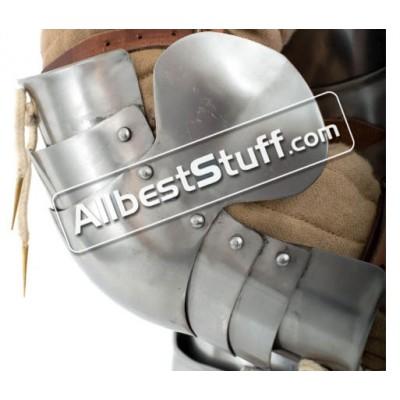 Medieval Plate Armor Elbow Protection 18 Gauge Steel