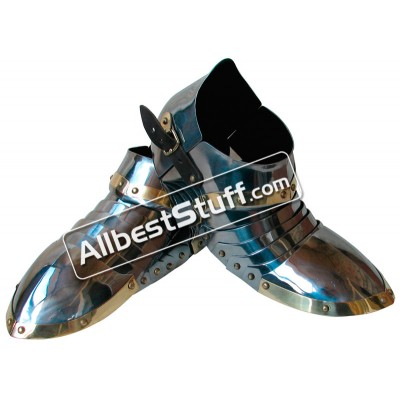 Medieval Steel Sabatons Set Knight Suit of Armor Shoes