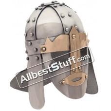 Medieval Sutton Hoo Helmet Made of 18 Gauge Steel