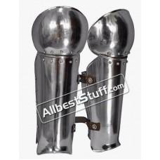 Medieval Warrior Leg and Knee Protection Steel 18 Gauge