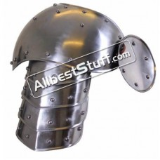 Metal Shoulder Plates Medieval Warrior 18 Gauge Steel Battle Ready
