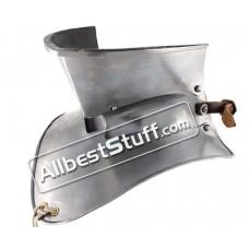 Plate Armor Bevor Neck Protection 18 Gauge Steel for Larp